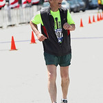 Jim Mackert, 77, of Elyria, finishes his 37th consecutive Cleveland Rite Aid Marathon.  RAY RIEDEL/CHRONICLE