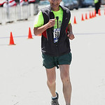 Jim Mackert, age 77, of Elyria, finishes his 37th consecutive Cleveland Rite Aid Marathon.  RAY RIEDEL/CHRONICLE