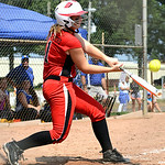 Elyria's Gabby Shackelford hits a double in the final inning. KRISTIN BAUER | CHRONICLE