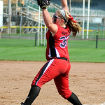 Elyria's pitcher Faith Hamilton pitches against Illinois. KRISTIN BAUER | CHRONICLE