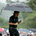 Phil Mickelson walks up the 12th hole during the fourth round of the U.S. Open golf tournament at Merion Golf Club, Sunday, June 16, 2013, in Ardmore, Pa. (AP Photo/Charlie Riedel)