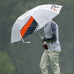 Justin Rose, of England, walks up the 14th hole during the fourth round of the U.S. Open golf tournament at Merion Golf Club, Sunday, June 16, 2013, in Ardmore, Pa. (AP Photo/Julio Cortez)