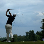 Justin Rose, of England, tees off on the 16th hole during the fourth round of the U.S. Open golf tournament at Merion Golf Club, Sunday, June 16, 2013, in Ardmore, Pa. (AP Photo/Charlie Ried …