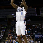 Charlotte Bobcats' Ben Gordon (8) shoots against the Cleveland Cavaliers during the first half of an NBA basketball game in Charlotte, N.C., Wednesday, April 17, 2013. (AP Photo/Chuck Burton …