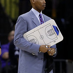 Cleveland Cavaliers head coach Byron Scott looks on during the first half of an NBA basketball game against the Charlotte Bobcats in Charlotte, N.C., Wednesday, April 17, 2013. (AP Photo/Chu …