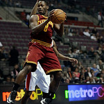 Cleveland Cavaliers guard Jeremy Pargo (8) rebounds against the Detroit Pistons in the first half of a NBA basketball game in Auburn Hills, Monday, Dec. 3, 2012. (AP Photo/Paul Sancya)