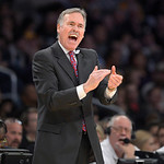 Los Angeles Lakers head coach Mike D'Antoni yells during the first half of their NBA basketball game against the Cleveland Cavaliers, Sunday, Jan. 13, 2013, in Los Angeles. (AP Photo/Mark J. …