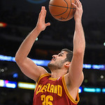 Cleveland Cavaliers forward Omri Casspi, of Israel, puts up a shot during the second half of their NBA basketball game against the Los Angeles Lakers, Sunday, Jan. 13, 2013, in Los Angeles.  …