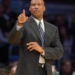 Cleveland Cavaliers head coach Byron Scott gestures during the first half of their NBA basketball game against the Los Angeles Lakers, Sunday, Jan. 13, 2013, in Los Angeles. (AP Photo/Mark J …