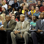 Cleveland Cavaliers head coach Byron Scott is shown during an NBA basketball game against the Philadelphia 76ers, Sunday, April 14, 2013, in Philadelphia. The 76ers won 91-77. (AP Photo/Mich …