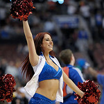 Philadelphia 76ers dancers performing during an NBA basketball game against the Cleveland Cavaliers, Sunday, April 14, 2013, in Philadelphia. The 76ers won 91-77. (AP Photo/Michael Perez)