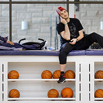 With their season ended, Cleveland Cavaliers players D.J. Kennedy, left, and Semih Erden, right, of Turkey, relax before speaking to the media at the team's practice facility in Independence …