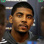 With the team's season ended, Cleveland Cavaliers Kyrie Irving talks to the media at the team's practice facility in Independence, Ohio, on Friday, April 27, 2012.  (AP Photo/Amy Sancetta)