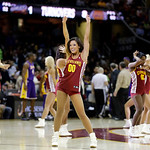 The Cavalier Girls perform during an NBA basketball game between the Milwaukee Bucks and Cleveland Cavaliers Tuesday, Dec. 11, 2012, in Cleveland. (AP Photo/Mark Duncan)
