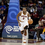 Cleveland Cavaliers' C.J. Miles brings the ball up against the Toronto Raptors vin an NBA basketball game Tuesday, Dec. 18, 2012, in Cleveland. (AP Photo/Mark Duncan)