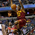 Cleveland Cavaliers forward Alonzo Gee dunks in front of Washington Wizards forward Martell Webster in the first half of an NBA basketball game, Wednesday, Dec. 26, 2012, in Washington. (AP  …