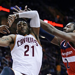 APTOPIX Wizards Cavaliers Basketball
