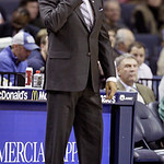 Memphis Grizzlies coach Lionel Hollins watches the first half of an NBA basketball game against the Cleveland Cavaliers in Memphis, Tenn, Monday, Nov. 26, 2012. Memphis defeated Cleveland 84 &#8230;