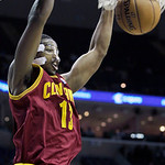 Cleveland Cavaliers' Tristan Thompson, dunks the ball during the first half of an NBA basketball game in Memphis, Tenn, Monday, Nov. 26, 2012. (AP Photo/Danny Johnston)