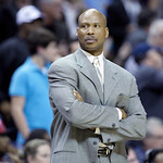 Cleveland Cavaliers coach Byron Scott watches the second half of an NBA basketball game against the Memphis Grizzlies in Memphis, Tenn, Monday, Nov. 26, 2012. The Grizzlies defeated the Cava …