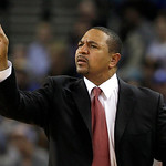 Golden State Warriors head coach Mark Jackson signals to his team during the second quarter of an NBA basketball game against the Cleveland Cavaliers in Oakland, Calif., Wednesday, Nov. 7, 2 …