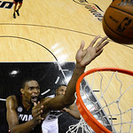 Miami Heat's Chris Bosh shoots against the San Antonio Spurs during the first half at Game 5 of the NBA Finals basketball series, Sunday, June 16, 2013, in San Antonio. (AP Photo/John G. Mab …