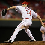 Cincinnati Reds starting pitcher Homer Bailey throws against the San Francisco Giants in the eighth inning of a baseball game, Tuesday, July 2, 2013, in Cincinnati. Bailey threw a no-hitter  …