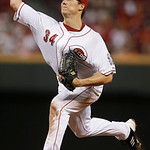 Cincinnati Reds starting pitcher Homer Bailey throws to a San Francisco Giants batter in the eighth inning of a baseball game, Tuesday, July 2, 2013, in Cincinnati. Bailey threw a no-hitter  …