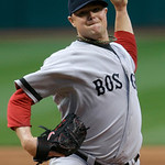 Boston Red Sox starting pitcher Jon Lester delivers against the Cleveland Indians in the first inning of a baseball game on Thursday, April 18, 2013, in Cleveland. (AP Photo/Mark Duncan)