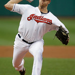 Cleveland Indians starting pitcher Zach McAllister delivers against the Boston Red Sox in the first inning of a baseball game on Thursday, April 18, 2013, in Cleveland. (AP Photo/Mark Duncan …