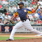 Houston Astros' Wesley Wright delivers a pitch against the Cleveland Indians in the eighth inning of a baseball game Sunday, April 21, 2013, in Houston. The Indians won 5-4. (AP Photo/Pat Su …