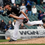 Chicago White Sox relief pitcher Addison Reed delivers against the Cleveland Indians during the ninth inning of a baseball game Wednesday, April 24, 2013, in Chicago. (AP Photo/Charles Rex A …