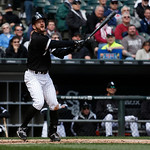 Chicago White Sox's Jeff Keppinger bats during a baseball game against the Cleveland Indians Wednesday, April 24, 2013, in Chicago. (AP Photo/Charles Rex Arbogast)