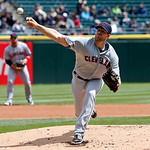 Cleveland Indians starting pitcher Zach McAllister delivers during the first inning of a baseball game against the Chicago White Sox, Wednesday, April 24, 2013, in Chicago. (AP Photo/Charles …