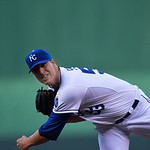 Kansas City Royals starting pitcher Will Smith warms up before the<br /> first inning of their second baseball game against the Cleveland Indians, Sunday, April 28, 2013, in Kansas City, Mo. (AP  &#8230;