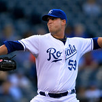 Kansas City Royals starting pitcher Will Smith (53) throws against the Cleveland Indians in the first inning of their second baseball game of a doubleheader, Sunday, April 28, 2013, in Kansa …