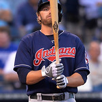 Cleveland Indians' Mark Reynolds prepares to bat against the Kansas City Royals in the third inning of their second baseball game, Sunday, April 28, 2013, in Kansas City, Mo. (AP Photo/Reed  …