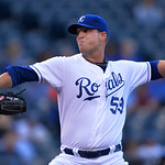 Kansas City Royals starting pitcher Will Smith (53) throws against the Cleveland Indians in the first inning of their second baseball game, Sunday, April 28, 2013, in Kansas City, Mo. (AP Ph …