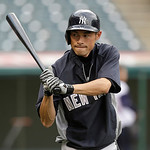 New York Yankees' Ichiro Suzuki warms up during batting practice before the Cleveland Indians play Yankees in a baseball game, Tuesday, April 9, 2013, in Cleveland. (AP Photo/Tony Dejak)