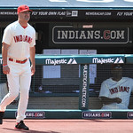 Cleveland Indians manager Manny Acta walks to the mound during a pitching change in the fifth inning of a baseball game against the Boston Red Sox, Sunday, Aug. 12, 2012, in Cleveland. (AP P …