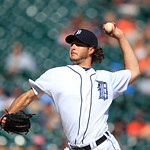 Detroit Tigers relief pitcher Darin Downs throws during the tenth inning of a baseball game against the Cleveland Indians in Detroit, Sunday, Aug. 5, 2012. (AP Photo/Carlos Osorio)