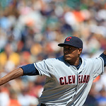 Cleveland Indians relief pitcher Tony Sipp throws during the sixth inning of a baseball game against the Detroit Tigers in Detroit, Sunday, Aug. 5, 2012. (AP Photo/Carlos Osorio)