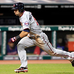 Minnesota Twins' Darin Mastroianni runs toward home plate to score in the ninth inning of a baseball game against the Cleveland Indians, Tuesday, Aug. 7, 2012, in Cleveland. Mastroianni scor …