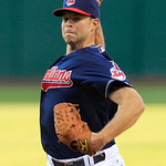 Cleveland Indians starting pitcher Corey Kluber delivers in the first inning of a baseball game against the Minnesota Twins, Tuesday, Aug. 7, 2012, in Cleveland. (AP Photo/Tony Dejak)