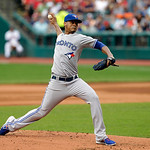 Toronto Blue Jays relief pitcher Esmil Rogers delivers against the Cleveland Indians in the first inning of a baseball game Wednesday, July 10, 2013, in Cleveland. (AP Photo/Mark Duncan)