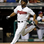 Cleveland Indians' Michael Bourn races home to score on a single by Asdrubal Cabrera in the ninth inning of a baseball game Wednesday, July 10, 2013, in Cleveland. The Indians lost 5-4. (AP …
