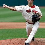 Cleveland Indians relief pitcher C.C. Lee delivers in the fifth inning of a baseball game against the Kansas City Royals, Sunday, July 14, 2013, in Cleveland. The Indians won 6-4. (AP Photo/ …