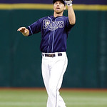 Tampa Bay Rays second baseman Ben Zobrist catches a first-inning line drive by Cleveland Indians&#039; Asdrubal Cabrera during a baseball game, Thursday July 19, 2012, in St. Petersburg, Fla. (AP &#8230;