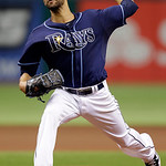 Tampa Bay Rays starting pitcher David Price delivers to the Cleveland Indians during the first inning of a baseball game, Thursday July 19, 2012, in St. Petersburg, Fla. (AP Photo/Chris O&#039;Me &#8230;