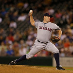 Cleveland Indians pitcher Bryan Shaw throws against the Seattle Mariners during a baseball game, Monday, July 22, 2013, in Seattle. (AP Photo/Ted S. Warren)